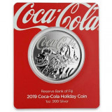 Moneda argint lingou + livrare GRATIS , Coca Cola Mos Craciun 1 uncie