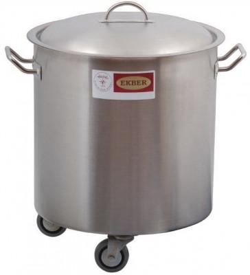 Recipient inox pentru deseuri cu capac, 36 litri foto