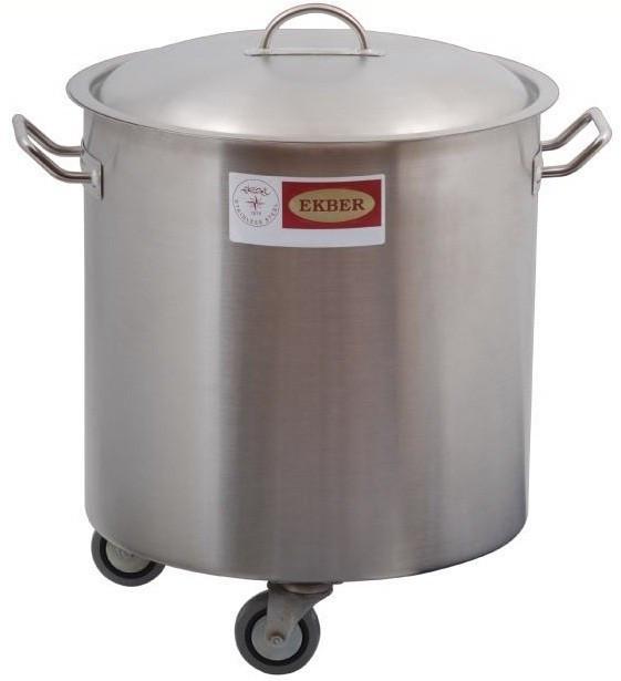Recipient inox pentru deseuri cu capac, 36 litri