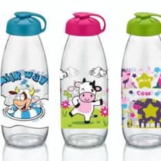 Sticla pentru lapte cu decor cu capac, 0154204, 500 ml