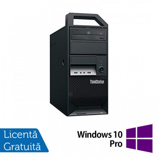 Workstation Lenovo ThinkStation E30 Tower, Intel Dual Core i3-2120 3.30GHz, 8GB DDR3, 1TB SATA, Intel Integrated HD Graphics 2000, DVD-RW + Windows 10