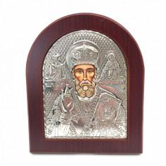 Icoana Sf. Nicolae placata cu aur si argint
