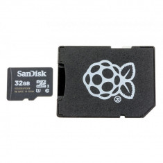 Card MicroSD Original de 32 GB cu NOOBs Compatibil cu Raspberry Pi 4 Model B Varianta Bulk