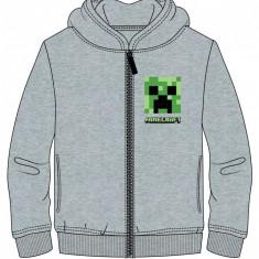 Hanorac fermoar Minecraft ORIGINAL Creeper LOGO-  5-12 ani + Bratara CADOU !