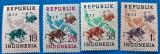 Indonezia-1949-''UPU'' Set 4 val. MNH