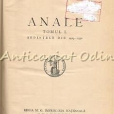 Academia Romana. Anale - Tomul L. Sedintele Din 1929-1930