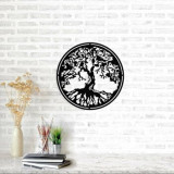 Cumpara ieftin Decoratiune pentru perete, Ocean, metal 100 procente, 50 x 50 cm, 874OCN1035, Negru