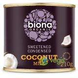 Lapte de Cocos Condensat Indulcit Ecologic/Bio 210g