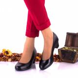 Pantofi dama eleganti din piele naturala, foarte comozi - Made in Romania NA242NP, 35 - 40, Negru