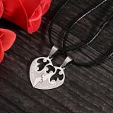 Medalion / Pandantiv / Colier / Lantisor Pentru Cuplu Din 2 Bucati