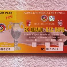 Bilet meci fotbal Dinamo Bucuresti-Rapid Bucuresti(Finala Cupei Romaniei 2002)