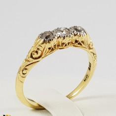 Inel Aur 14k, Diamante de cca. 0.24 ct in total, 3.00 grame