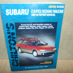 MANUAL REPARATII SUBARU  COUPES/SEDANS/WAGONS 1985-1996