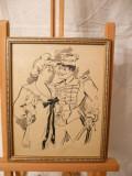 Desen-Dragostea mea-Gall (Francois), Portrete, Cerneala, Impresionism