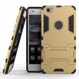 Husa carcasa hibrida g-shock pentru Huawei P8 Lite, auriu