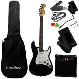 Set chitara electronica Madison, amplificator, acordor, 6 corzi, curea, husa