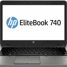 Laptop HP EliteBook 740 G2, Intel Core i5 Gen 5 5200U 2.2 Ghz, 4 GB DDR3, 500 GB HDD SATA, Wi-Fi, 3G, Bluetooth, Webcam, Tastatura QWERTY UK RF,