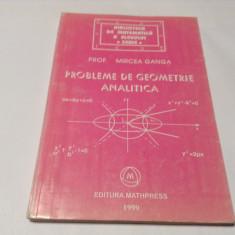 Probleme de geometrie analitica de Mircea Ganga-RF10/0