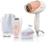 Set de ingrijire Philips Epilator Satinelle + Uscator de par HP6542/00