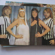 Carte postala actori/film - Formatia ABBA