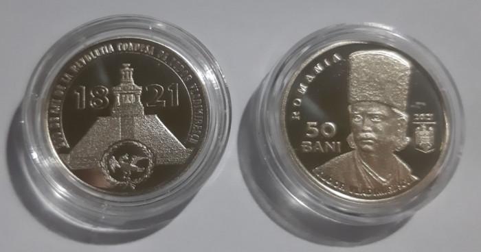 Romania 50 Bani 2021 proof Tudor Vladimirescu