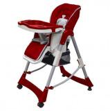 Cumpara ieftin Scaun înalt pentru copii, roșu bordo, înălțime reglabilă