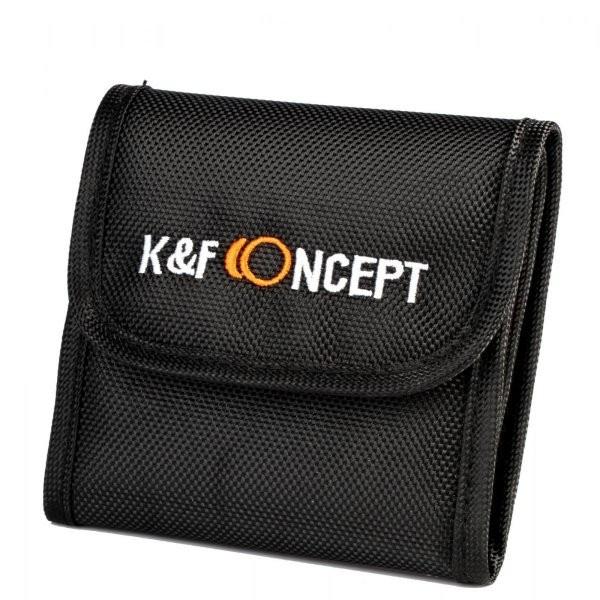 Husa nylon K&F Concept marime S pentru 3 filtre