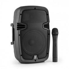 """Skytec SPJ-PA908, boxă portabilă PA, 20cm (8""""), baterie, Bluetooth, USB, SD, MP3, 350W"""