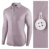Camasa pentru barbati gri albastrui regular fit bumbac casual Business Class Ultra
