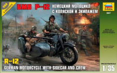 1:35 German motorcicle R-12 with sidecar and crew 1:35 foto