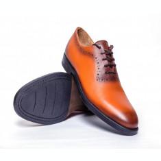 Pantofi barbati Francesco Ricotti ,piele naturala,culoare maro deschis