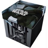 Taburet pliabil cu spatiu de depozitare Star Wars Star, 32 x 32 x 32 cm, maxim 80 kg, Multicolor