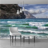 Fototapet plaja 390 x 260 cm - Tapet premium cu adeziv