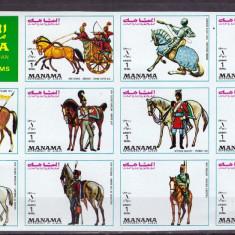 Manama 1972 - CAI, UNIFORME MILITARE - serie ndt in bloc