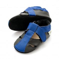 Sandale cu talpa moale Liliputi Atacama Black