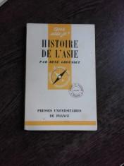 HISTOIRE DE L'ASIE - RENE GROUSSET (CARTE IN LIMBA FRANCEZA) foto