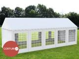 3X10 M CORT EVENIMENTE PROFESIONAL ECONOMY, PVC 500 g/m² ALB