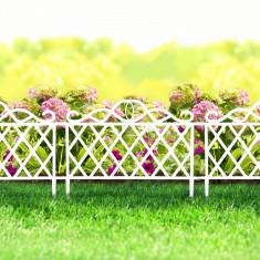 Bordura pt. pat de flori / gard - 47 x 36 cm - alb Best CarHome