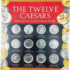 Set 12 Monede Romane - Cei 12 Cezari, reproduceri (CAESAR, AUGUSTUS, NERO etc.)