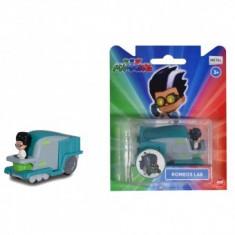 Masina Dickie Toys Eroi in Pijamale Romeo's Lab cu figurina