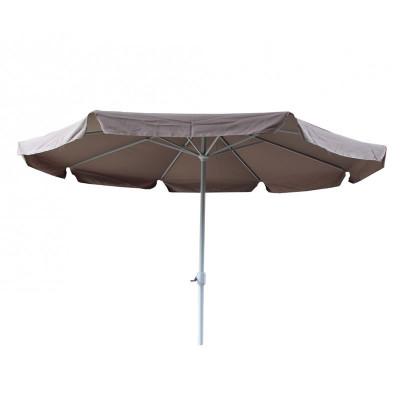 Umbrela pentru terasa Nfau, rotunda, structura metal, 350 x 250 cm, crem foto
