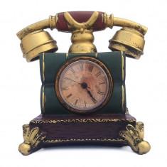 Pusculita - telefon retro cu ceas 16x16 cm