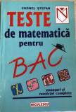 Teste de matematica BAC  Cornel Stefan