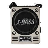 Cumpara ieftin Radio portabil retro USB, TF/SD, FM, MP3, cu lanterna, acumulator, antena telescopica, Waxiba