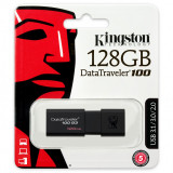 Memorie Externa Kingston DT100, 128Gb, USB 3.0, Neagra DT100G3/128GB