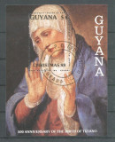 Guyana 1988 Titian painting Christmas perf sheet Mi.B26 used L.015