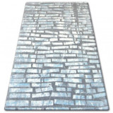 Covor acril Patara 0244 crem si turcoaz, 200x300 cm, Lana