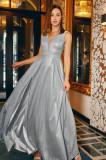 Rochie lungă din material strălucitor