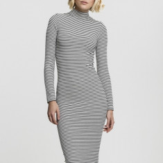 Ladies Striped Turtleneck Dress