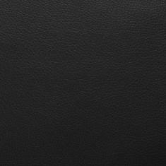 Material din piele artificială. 1,4 x 9 m, negru